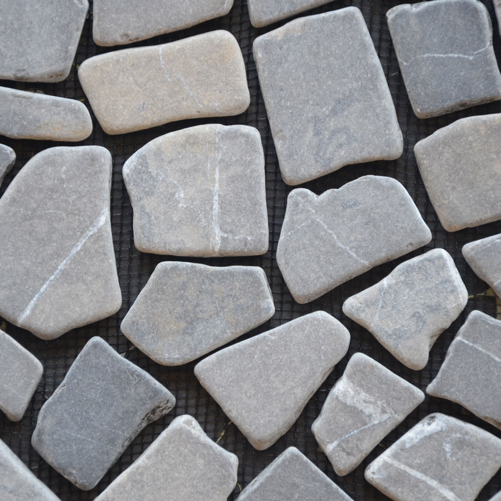 Mozaiek breuk op net - Marmer mozaiek breuk model interlock